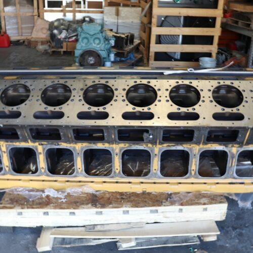 large caterpillar engine block